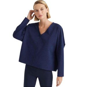NWT Club Monaco Cocoon V Neck Top in Tricot Blue